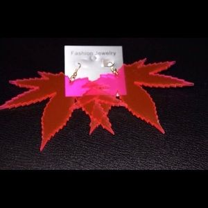 *COMING SOON* Pink Weed Earrings